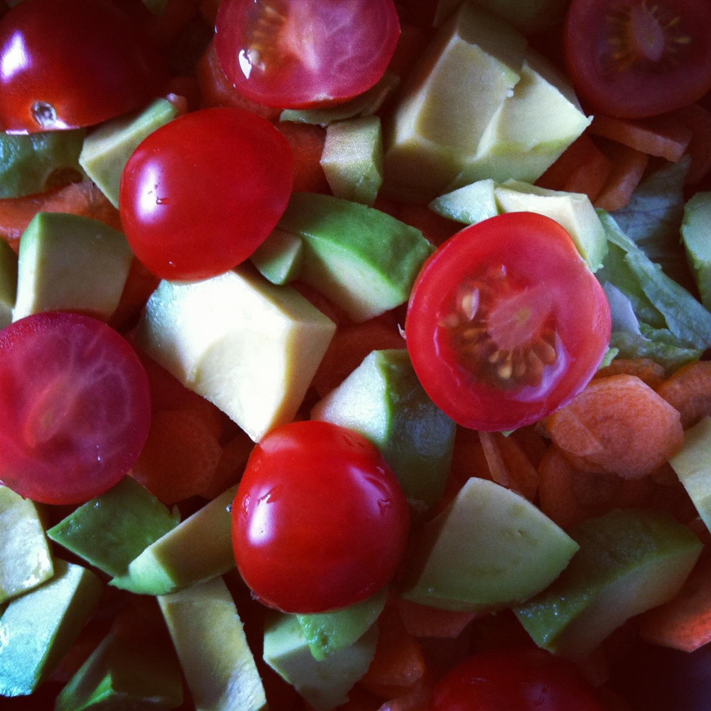 Hurtig blandet salat